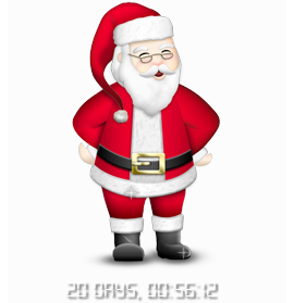 Countdown Days till Christmas with Santa
