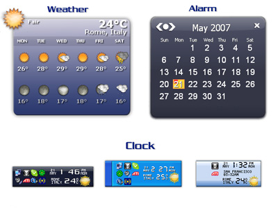 Weather on taskbar