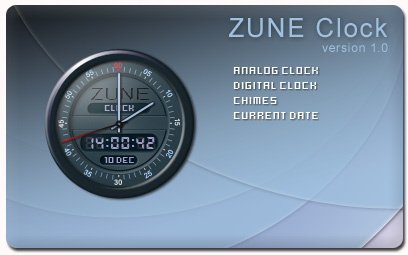 Zune Clock - a Desktop Analog/Digital Clock